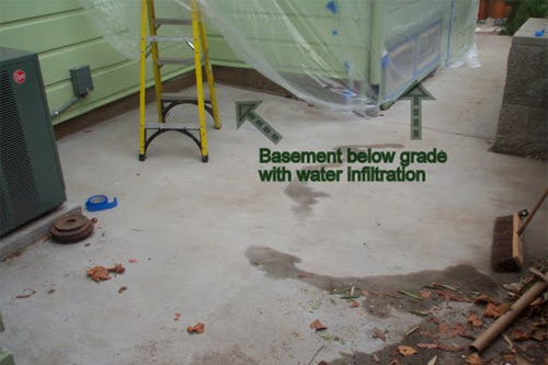 water intrusion in basement