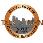 talk of the town customer service award