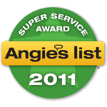 Winner, 2011 Angie's List Super Service Award