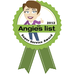 Winner, 2012 Angie's List Super Service Award