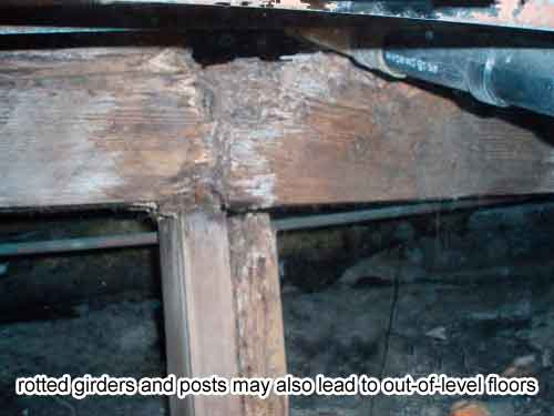 Wood Rot Leads To Sloping Floor