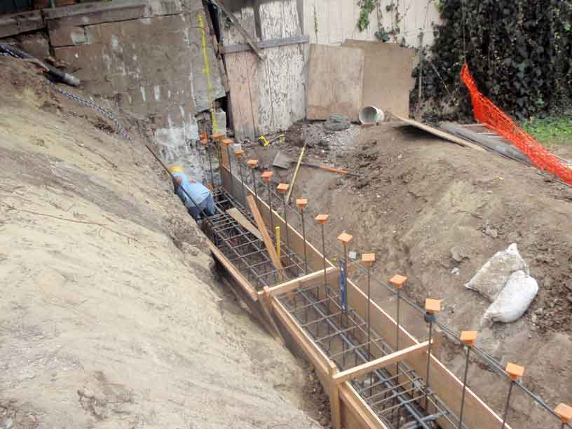Poured Concrete Retaining Wall Forms : Los angeles retaining wall sinai construction engineering